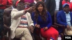 UMnu. Morgan Tsvangirai lomkakhe, uNkosikazi Elizabeth Tsvangirai.