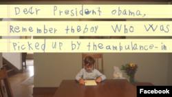Surat dari seorang anak Amerika kepada Presiden Obama yang tersebar luas di Internet.