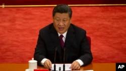 시진핑 중국 국가주석은 30일 베이징 인민대회당에서 열린 5·4운동 100주년 기념식에서 연설했다.