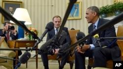 Барак Обама и Дональд Туск