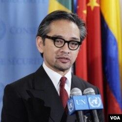 Salah satu ketua pertemuan 'Bali Process', Menteri Luar Negeri Marty Natalegawa.