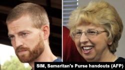 Bác sĩ Kent Brantly và bà Nancy Writbol đã được điều trị khỏi bệnh Ebola tại bệnh viện Emery ở Atlanta.