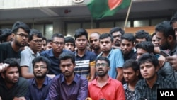 Student demonstration in Bangladesh against quota system.