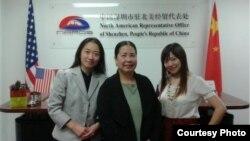 美国公民潘婉芬(中),出生于越南但祖籍为中国( 图片来自savesandy.org)