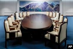 Salón de reuniones de la Casa de la Paz donde se realizará el encuentro.