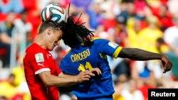 Матч Швейцария-Эквадор. Бразилия, 15 июня 2014.