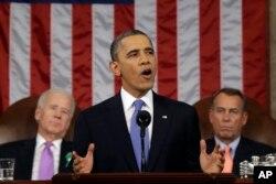 바락 오바마 전 미국 대통령이 지난 2013년 2월 국정연설에서 북한의 위협에 대해 언급했다.