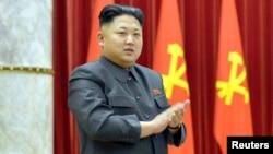 Kim Jong-un durante una ceremonia de premiación en Pyongyang.
