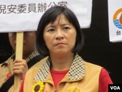 台湾在野党台联党立委周倪安(美国之音张永泰拍摄 )