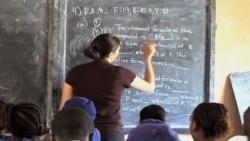 Amanda Pease is a Peace Corps science teacher in Sierra Leone