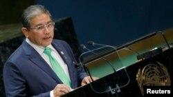 Menteri Luar Negeri Kedua Brunei Erywan Pehin Yusof berpidato pada sesi ke-74 Majelis Umum PBB di markas besar PBB di New York City, New York, AS, 30 September 2019. (Foto: REUTERS/Brendan McDermid)