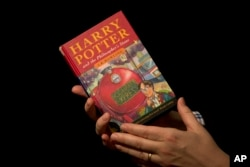 "An original copy of ""Harry Potter and the Philosopher's Stone."""