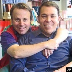 Bruce Feiler (R) and David Black