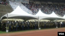 Members of the Zimbabwe National Army attending Defence Forces Day on Tuesday.