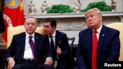 Cumhurbaşkanı Recep Tayyip Erdoğan ve Amerika Başkanı Donald Trump