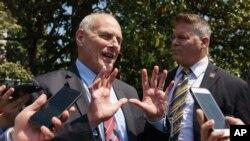John Kelly es el jefe de despacho de la Casa Blanca, pero ha presentado diferencias con el presidente Donald Trump.
