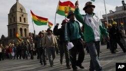 Los mineros asalariados exigen la nacionalización del 100% de la veta Rosario.
