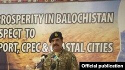 Le chef de l'armée pakistanaise, le général Raheel Sharif à Gwadar, dans la province pakistanaise de Baloutchistan, le 12 avril 2016.