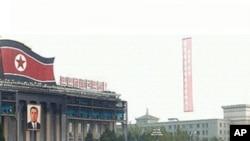 북한의 미사일 부대행진 (자료사진)
