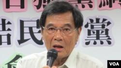 台湾独立建国联盟主席陈南天(美国之音张永泰拍摄)