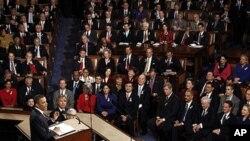 오바마 대통령의 美 의회 연설장면(자료사진)
