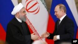 Хасан Рухани и Владимир Путин. Москва, Россия. 28 марта 2017 г.