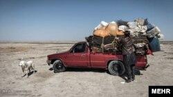 اینجا هامون در استان سیستان و بلوچستان است که زمانی نه چندان دور یک دریاچه بود.