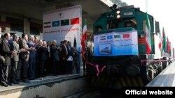 ورود نخستین قطار باری چین به تهران برای احیای جاده ابریشم - ۲۶ بهمن ۱۳۹۴