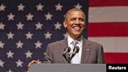 Predsednik Barak Obama govori na izbornom skupu u Majamiju, Florida, 26. jun 2012.