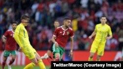 Le Maroc a été tenu en échec (0-0) par l'Ukraine pour son premier match de préparation du Mondial 2018, à Genève, Suisse, 31 mai 2018. (Twitter/Maroc)