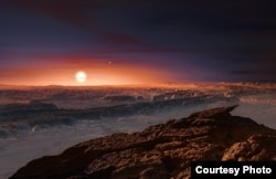 Artist's impression of the planet orbiting Proxima Centauri. courtesy of ESO/M. Kornmesser.