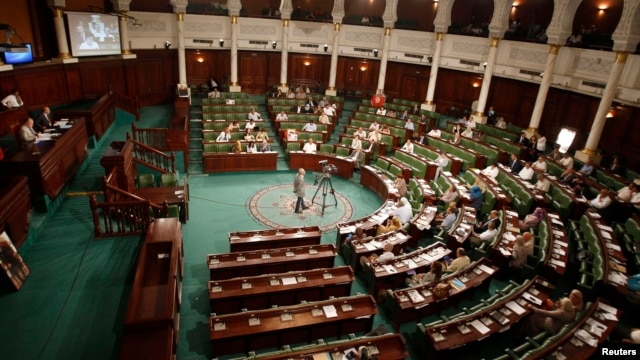 A general view shows Tunisia's Constituent Assembly in Tunis, June 25, 2014.