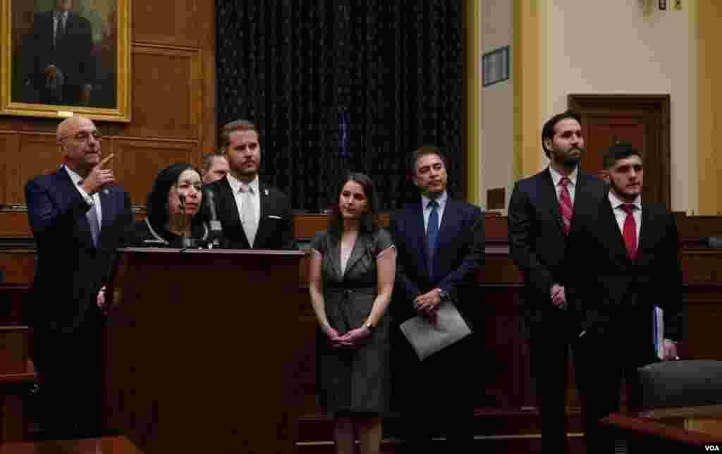 کمیته فرعی امور خارجی مجلس نمایندگان ایالات متحده میزبان اعضای خانواده آمریکایی های زندانی در ایران بود.