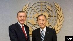 BM Genel Sekreteri Ban Ki Moon BM güvenlik görevlileri ve Başbakanlık korumaları arasında yaşanan tartışmadan dolayı Başbakan Erdoğan'dan özür diledi