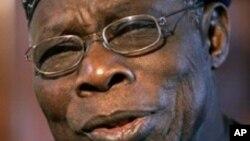 Mjumbe wa AU rais wa zamani wa Nigeria Olusegun Obasanjo.