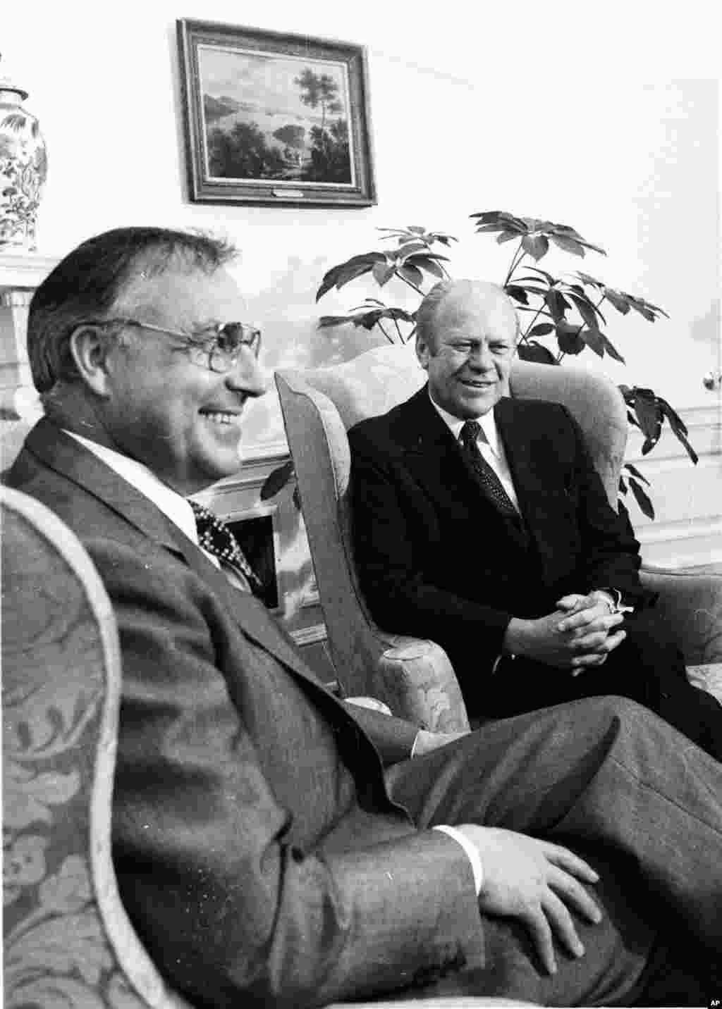 4 мая 1976, Гельмут Коль вместе с президентом США Джеральдом Фордом