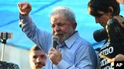 Luiz Inacio Lula da Silva à Porto Alegre au Brésil le 23 janvier 2018.