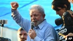 Lula da Silva discursa em Porto Alegre