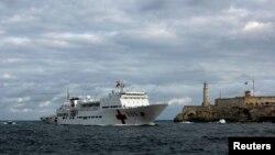 Kapal China di pelabuhan Havana, Kuba. (Foto: Ilustrasi)