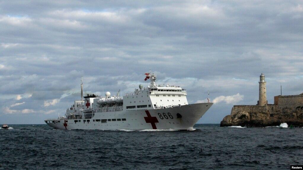 Tàu bệnh viện của hải quân Trung Quốc.