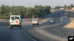 Wasu Motocin Ma'aikatan ICRC Da Ke Afghanistan
