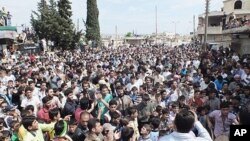 Biểu tình chống chính phủ ở Idlib, miền bắc Syria