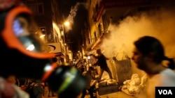 示威者在首都安卡拉與警察衝突