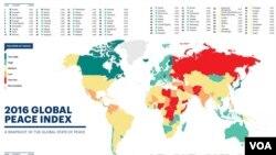 El Índice de Paz Global revela que terrorismo le cuesta a la economía mundial 14,3 billones de dólares.