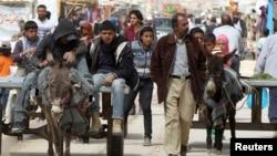 Ürdün'deki Zatari mülteci kampına sığınan Suriyeliler