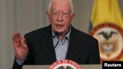 """""""El proceso no es solo importante para Colombia, sino también para la región y el mundo entero"""", dijo Carter."""