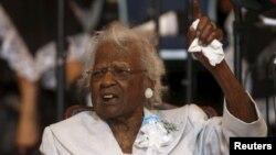 Jeralean Talley, se convirtió en la mujer más longeva del mundo. Vive en Detroit, Estados Unidos.