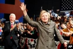 ຜູ້ສະໝັກປະທານາທິບໍດີ ສະຫະລັດ ພັກເດໂມແຄຣັດ ທ່ານນາງ Hillary Clinton.