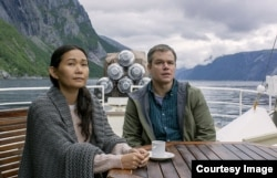 "Hong Chau and Matt Damon in the film ""Downsizing."" (Paramount Pictures)"