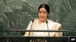 အိႏိၵယႏိုင္ငံျခားေရးဝန္ႀကီး Sushma Swaraj